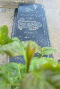 قبر حسن دانشفر در گورستان همدان (عکس از حمید بهخیال).
