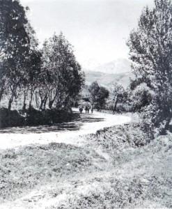 همدان، یچ نعلاشکنه، عباسآباد،(بلوار کولاب فعلی) سال 1313 هجریشمسی. (عکس از مدیدیت اسناد و کتابخانه ملی غرب کشور).